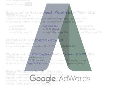 AdWords – reklamy w wyszukiwarce